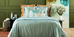 Au Loin Aqua Bed Collection by Yves Delorme