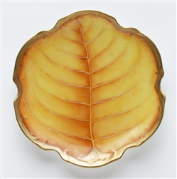 Anna Weatherley - Amber Leaf Canape Plate