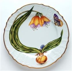 Flowers of Yesterday Yellow Buttercup Dinner Plate by Anna Weatherley