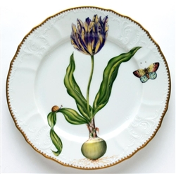 Flowers of Yesterday Yellow & Purple Tulip Dinner Plate by Anna Weatherley