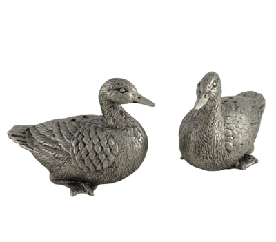 Pewter Duck Salt and Pepper Shakers (Set of 2) by Vagabond House