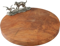 Labrador & Duck Pewter/Oak Cheese Board by Vagabond House