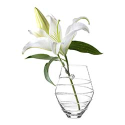 "Amalia 6"" Clear Vase by Juliska"