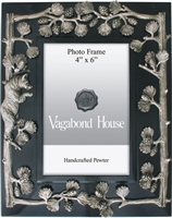 Black Forest Bear Pewter Embellished Frame by Vagabond House
