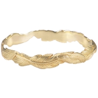 Narrow Feather Bangle in Sterling Silver by Grainger McKoy