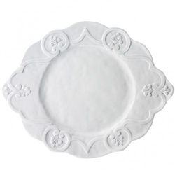 Bella Bianca Scalloped Charger by Arte Italica