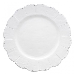Bella Bianca Beaded Dinner Plate by Arte Italica