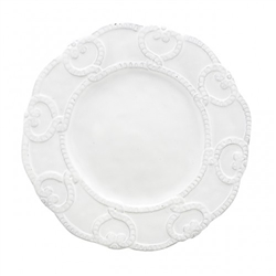 Bella Bianca Antique Lace Salad/Dessert Plate by Arte Italica