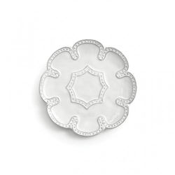 Bella Bianca Beaded Canape Plate by Arte Italica