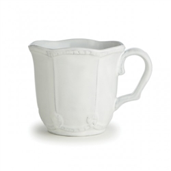 Bella Bianca Beaded Mug by Arte Italica
