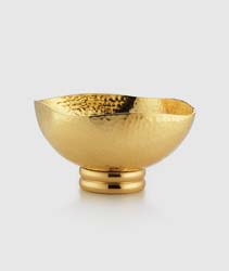 "El Dorado Gold Tone Square Bowl 5"" x 2.75"" H by Mary Jurek Design"