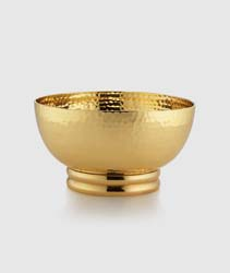 "El Dorado Gold Tone Bowl 5.25"" x 3"" H by Mary Jurek Design"