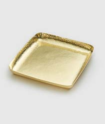 "El Dorado Gold Tone Square Tray 9"" by Mary Jurek Design"