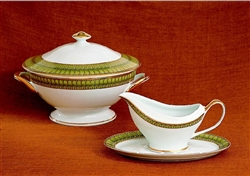 Arcades Footed Soup Tureen With Lid by Philippe Deshoulieres