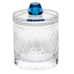 Aqua Bonbon Canister with Lid by Moser