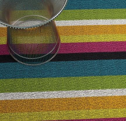 Bold Stripe Shag Indoor/Outdoor Mats
