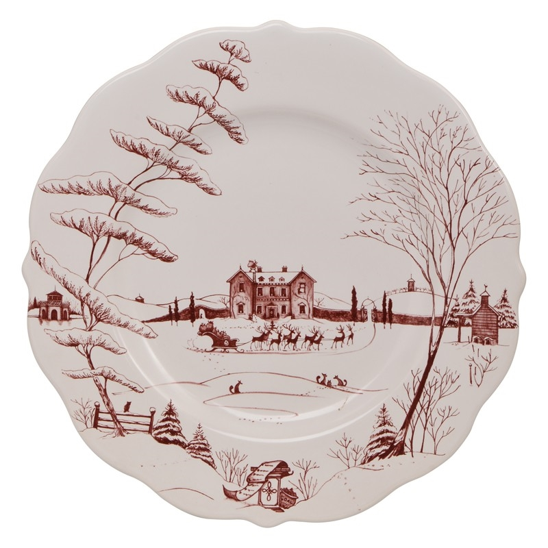 Juliska - Country Estates Winter Frolic Ruby Dinner Plate Christmas