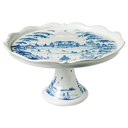 Country Estate Delft Blue Cake Stand Fete by Juliska
