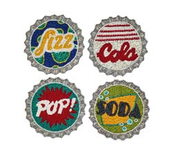 Bottle Cap Coaster (Set of 4) by Kim Seybert