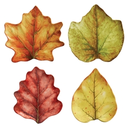 Forest Walk Leaf Party Plates Set of Four by Juliska
