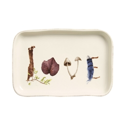 "Forest Walk 7.5"" Gift Tray ""Love"" by Juliska"