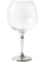 Classic Burgundy Wine Glass with Pewter Stem by Vagabond House