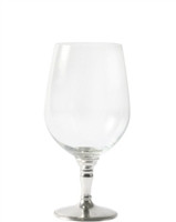 Classic Water Glass with Pewter Stem by Vagabond House