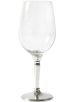 Classic White Wine Glass with Pewter Stem by Vagabond House
