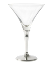 Classic Cocktail Glass with Pewter Stem by Vagabond House