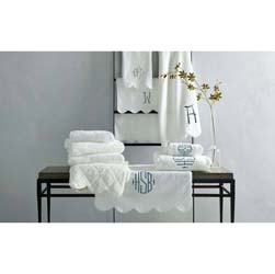 Cairo with Scallop Piping Luxury Towels by Matouk