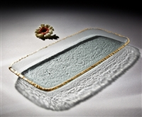 "Edgey Party Tray - 9 1/2 x 20"" by Annieglass"