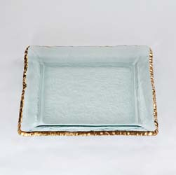 "Edgey 12"" Square Platter by Annieglass"