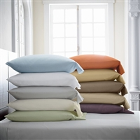 Stresa Solid Sateen Sheeting Collection by Scandia Home