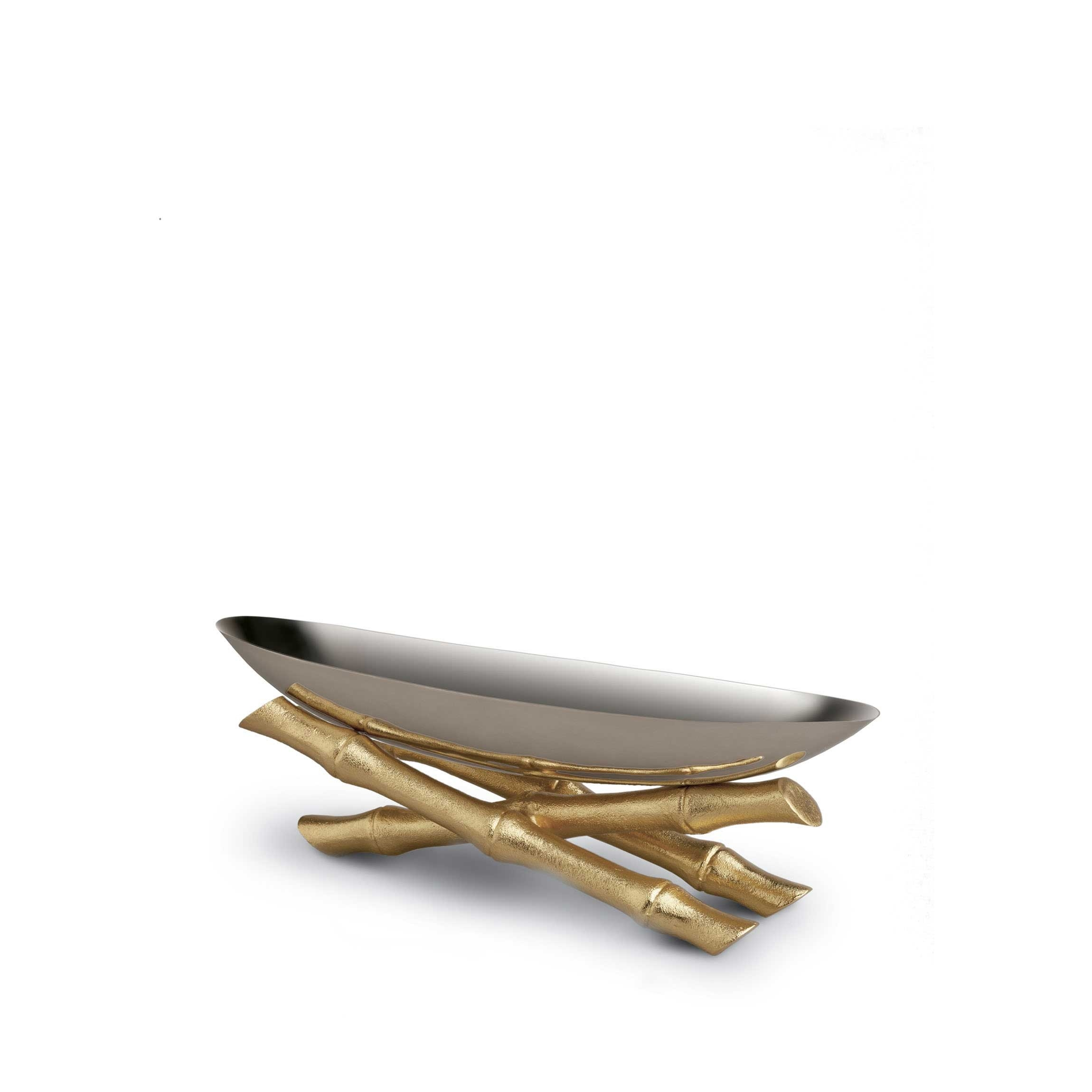Bambou Small Serving Boat L Objet Official Retailer