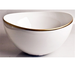 Simply Elegant Gold Open Vegetable Bowl by Anna Weatherley