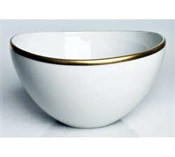 Simply Elegant Gold Fruit Bowl by Anna Weatherley