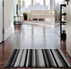 Even Stripe Shag Indoor/Outdoor Mats by Chilewich