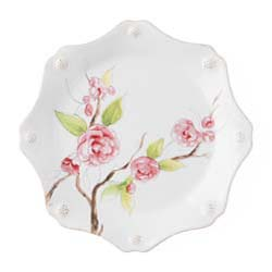 Berry & Thread Floral Sketch Camellia Dessert/Salad Plate by Juliska