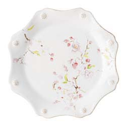 Berry & Thread Floral Sketch Cherry Blossom Dessert/Salad Plate by Juliska