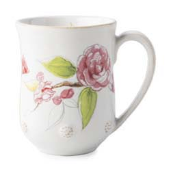 Berry & Thread Floral Sketch Camellia Mug by Juliska