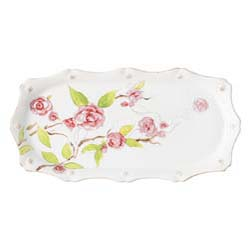 Berry & Thread Floral Sketch Camellia Hostess Tray by Juliska