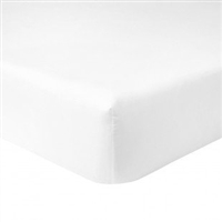 Flandre Luxury White Fitted Sheet by Yves Delorme