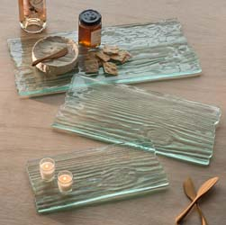 Grove Clear Plank Cheese Board by Annieglass