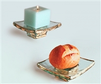 "5"" x 5"" Square Truffle Stand by Annieglass"