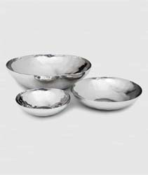 Luna Hand Hammered Stainless Round Bowls by Mary Jurek Design