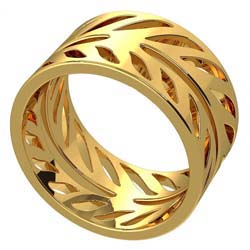 Hand-Cut Ring by Grainger McKoy