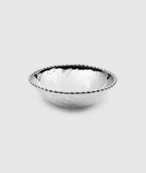 "Paloma Round Bowl with Braided Wire 4.5"" D by Mary Jurek Design"