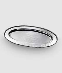"Paloma Oval Tray with Braided Wire 18.5"" by Mary Jurek Design"