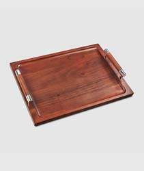 Sierra Wood Tray with Handles by Mary Jurek Design