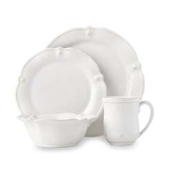 Berry & Thread Whitewash Flared 4pc Place Setting by Juliska